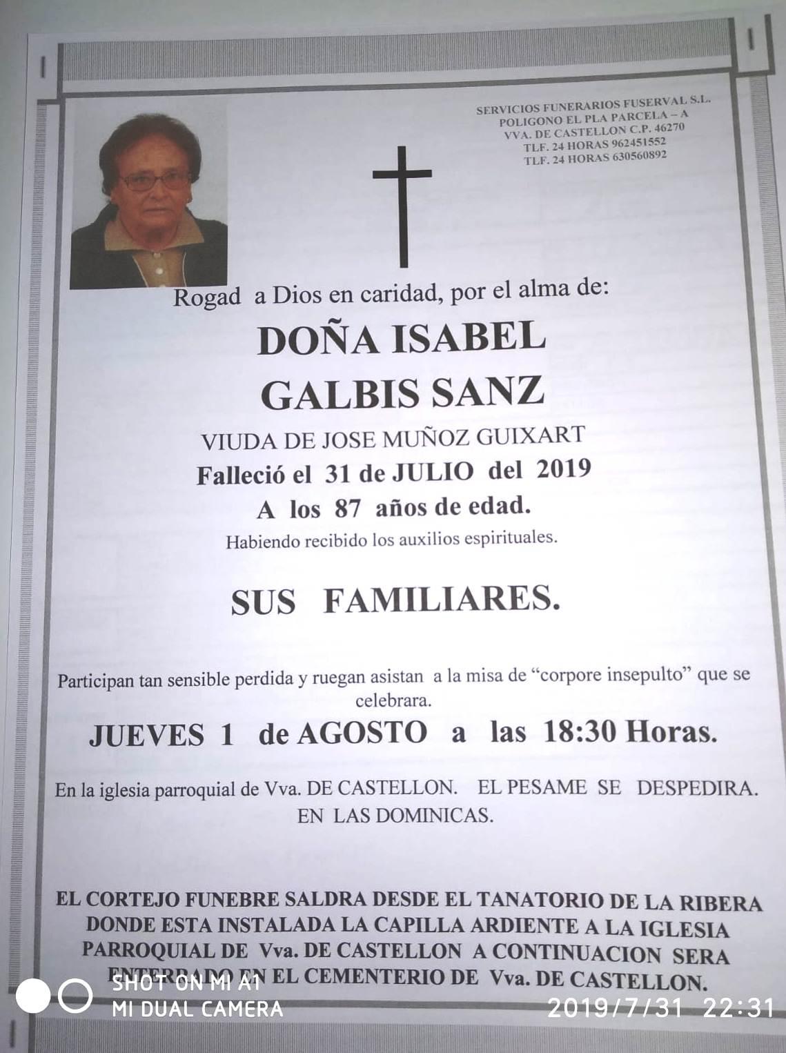 ISABEL GALBIS SANZ