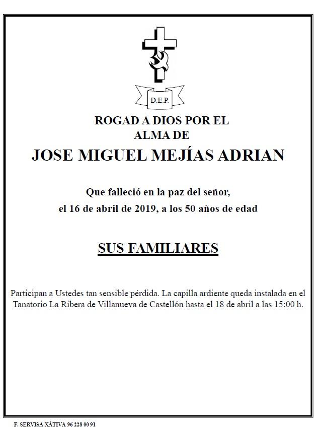 JOSE MIGUEL MEJÍAS ADRIAN
