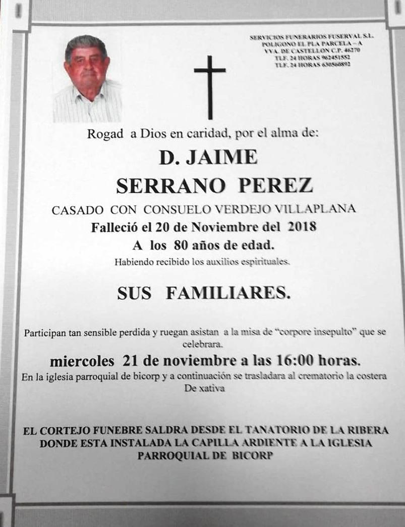 JAIME SERRANO PEREZ
