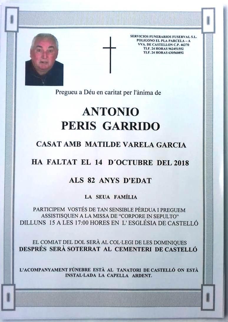 ANTONIO PERIS GARRIDO