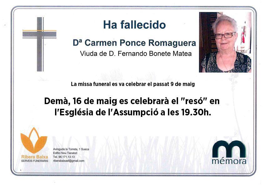 CARMEN PONCE ROMAGUERA