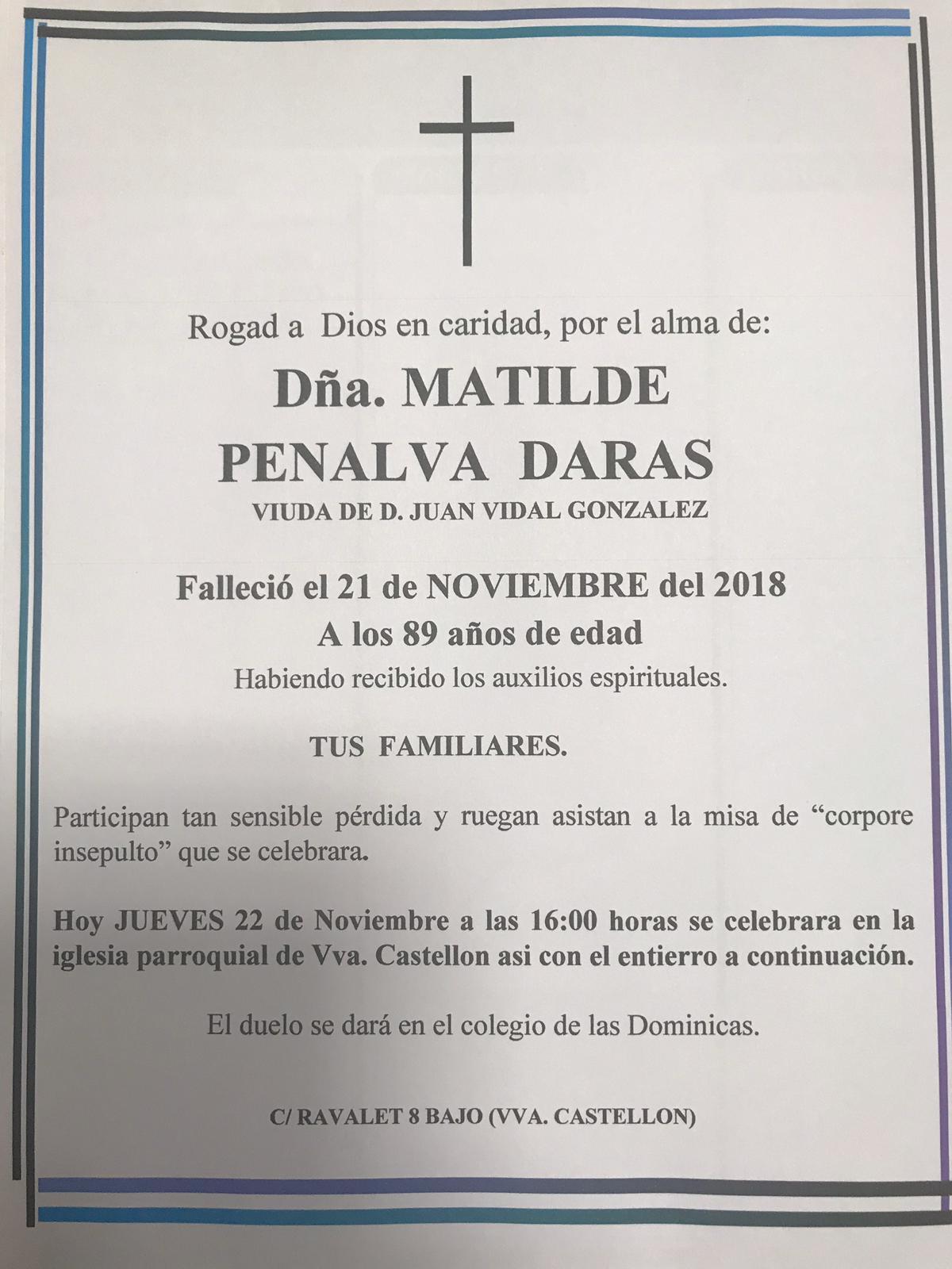 MATILDE PENALVA DARAS