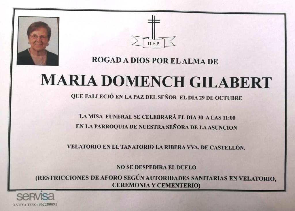Obituari - MARIA DOMENECH GILABERT