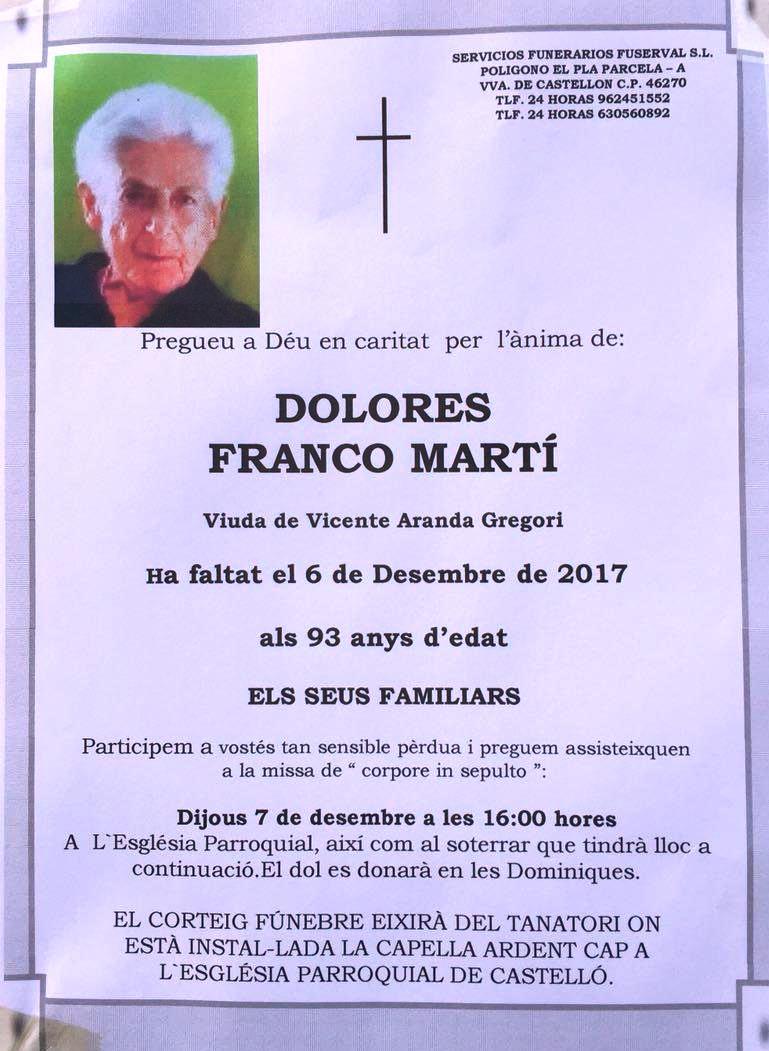 DOLORES FRANCO MARTÍ