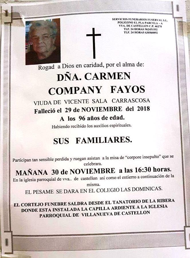 CARMEN COMPANY FAYOS