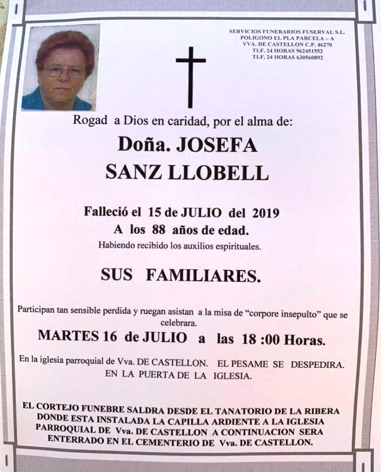 JOSEFA SANZ LLOBELL