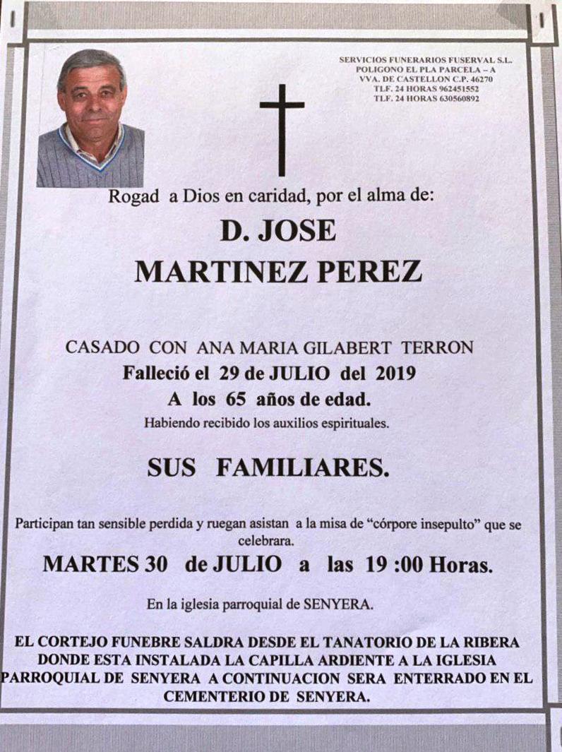 JOSÉ MARTÍNEZ PÉREZ