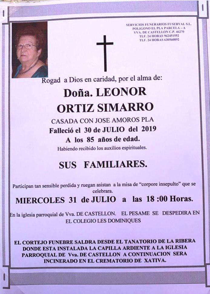 LEONOR ORTIZ SIMARRO
