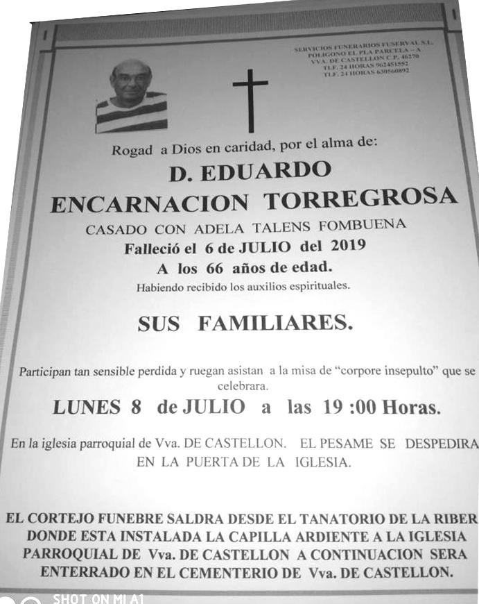 EDUARDO ENCARNACIÓN TORREGROSA