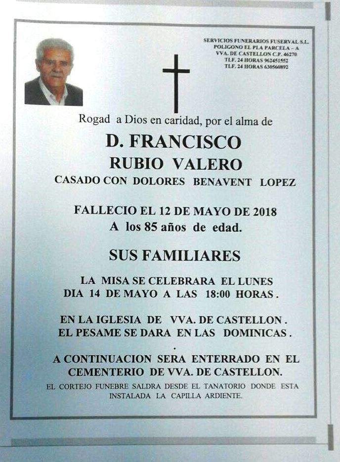 FRANCISCO RUBIO VALERO