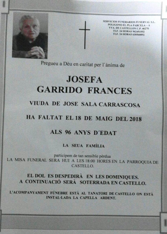 JOSEFA GARRIDO FRANCES