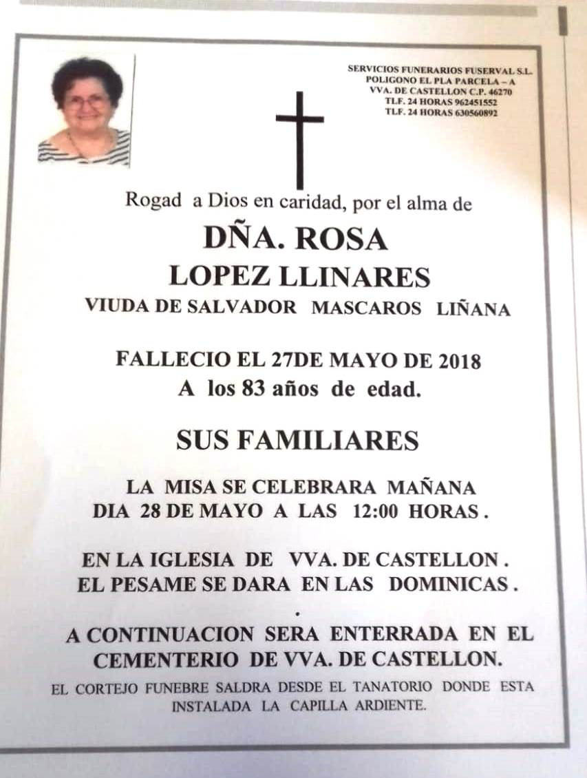 ROSA LOPEZ LLINARES