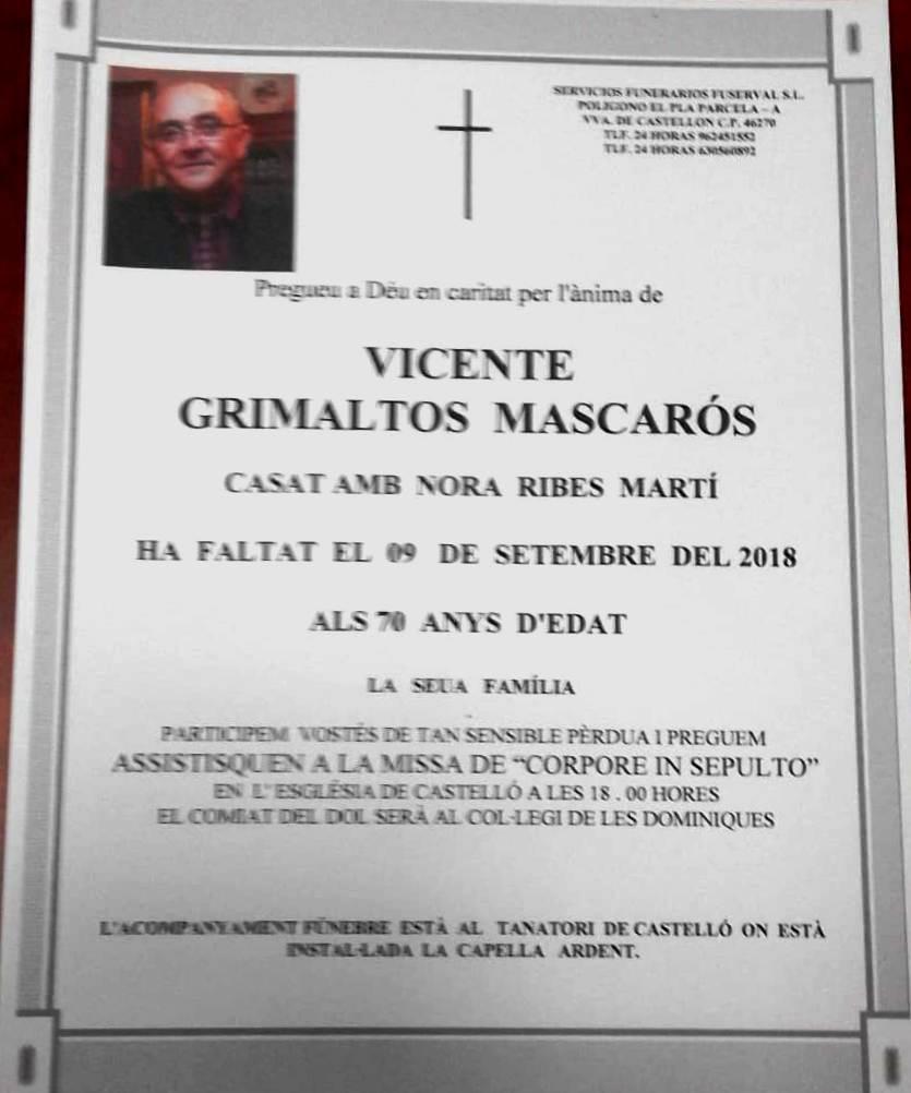 VICENTE GRIMALTOS MASCARÓS