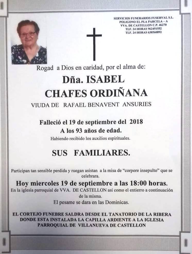 ISABEL CHAFES ORDIÑANA