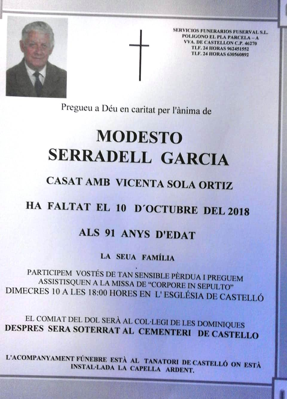MODESTO SERRADELL GARCIA