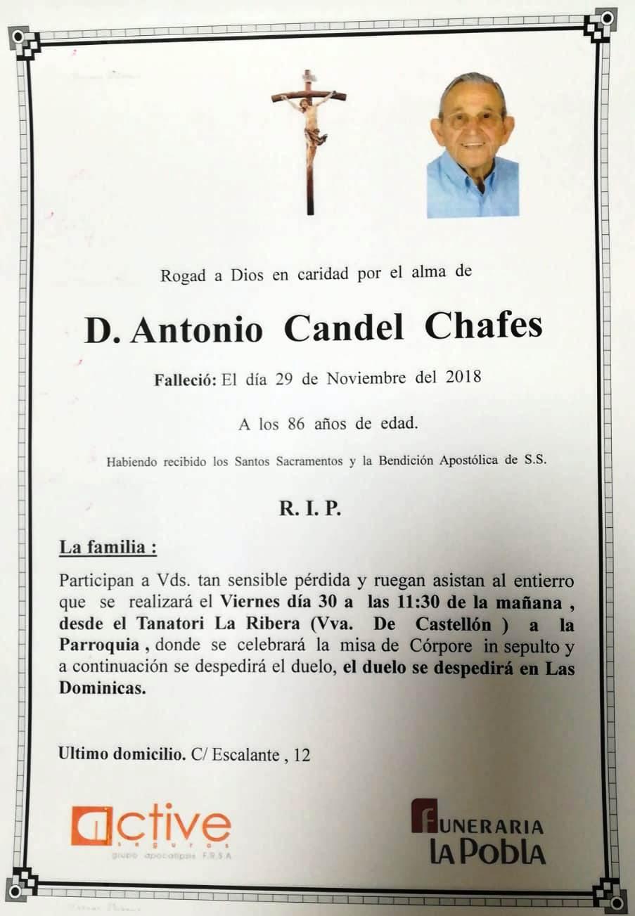 ANTONIO CANDEL CHAFES