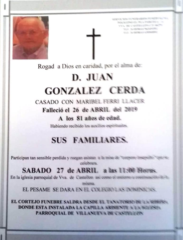 JUAN GONZALEZ CERDA