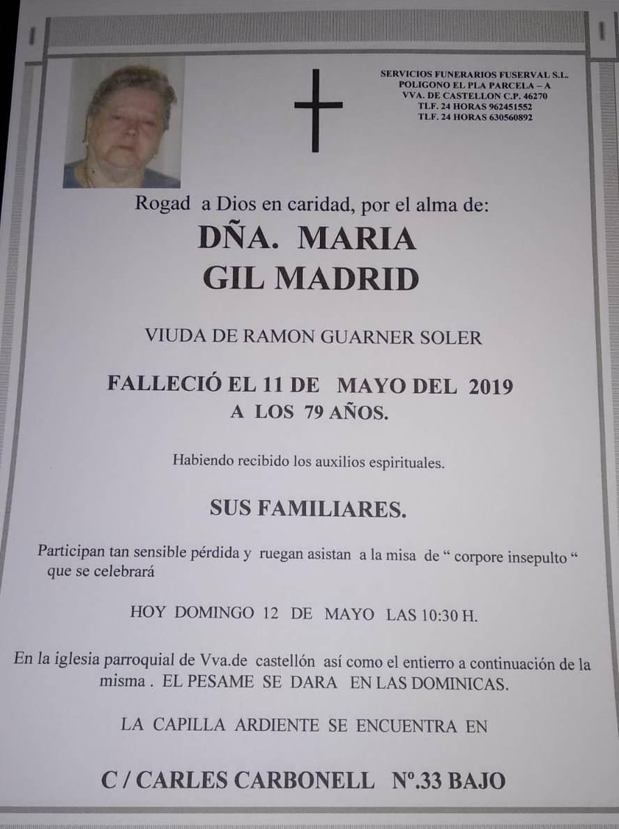 MARIA GIL MADRID