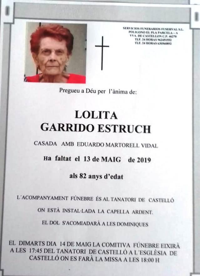 LOLITA GARRIDO ESTRUCH
