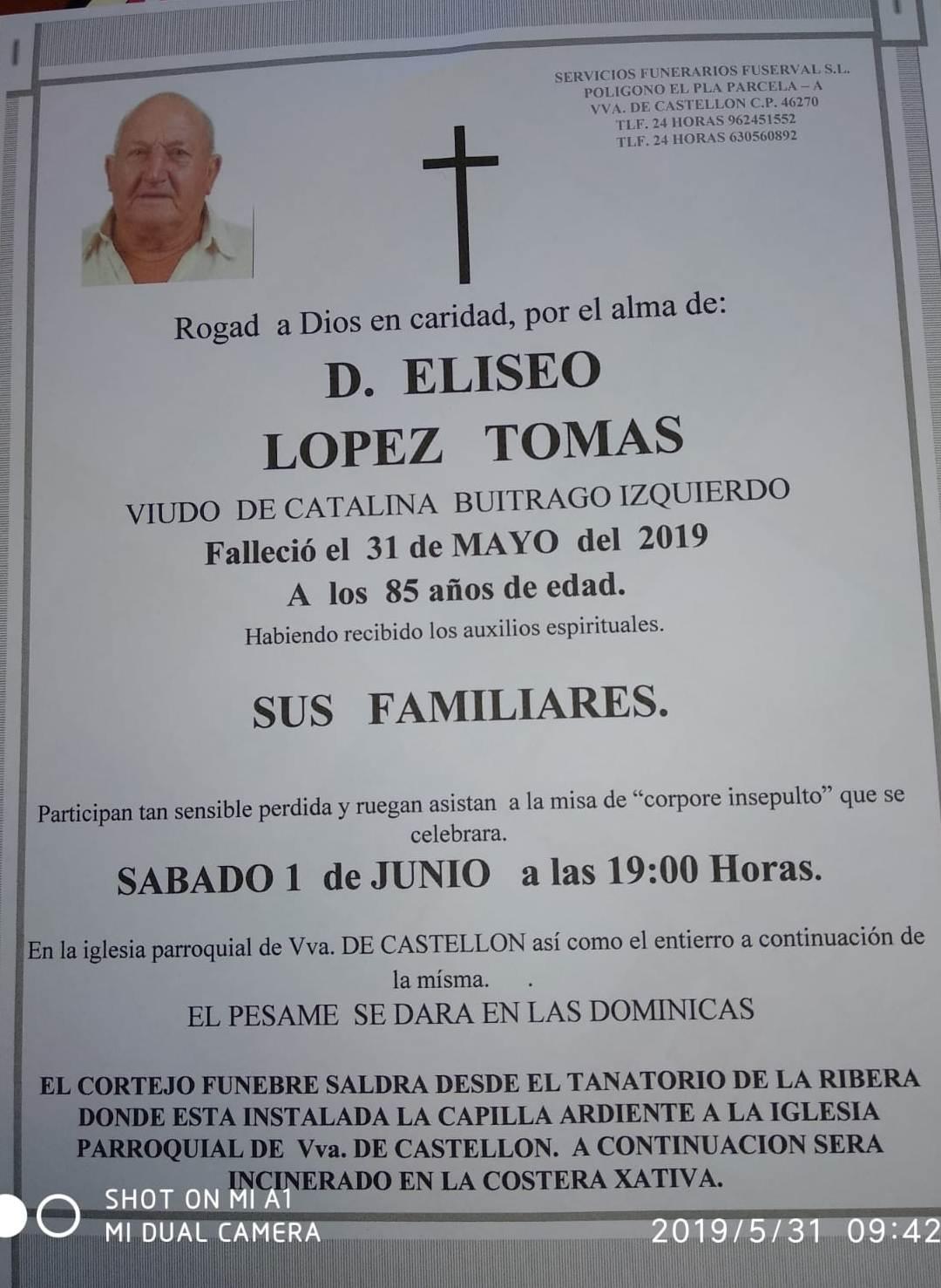 ELISEO LÓPEZ TOMAS