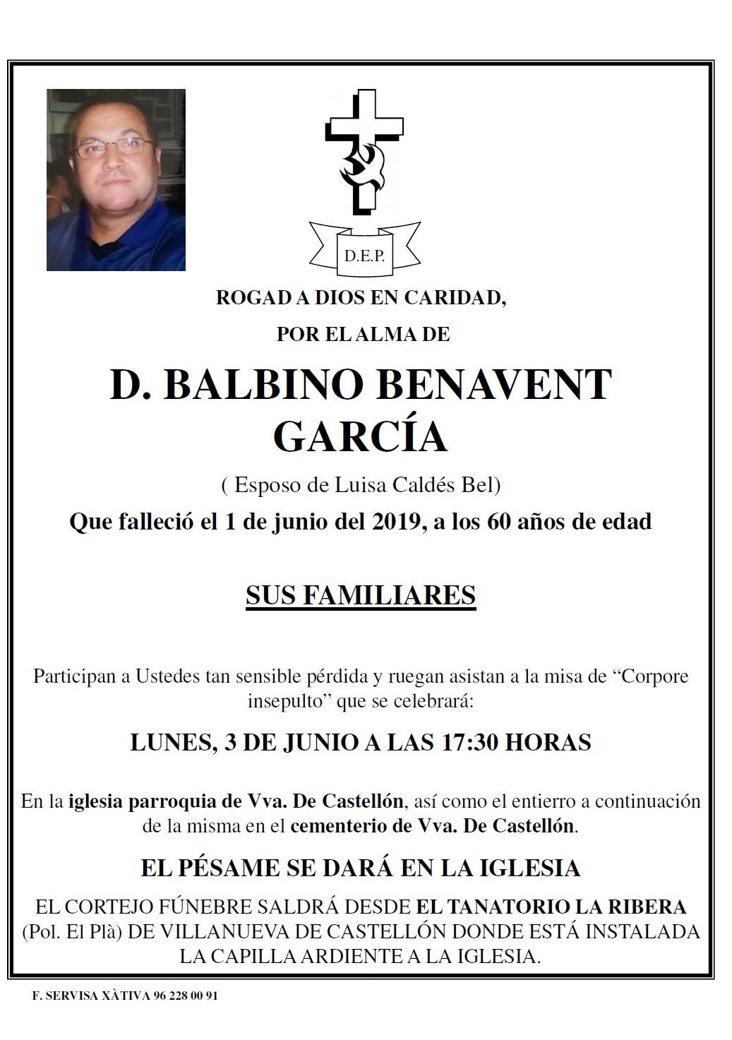 BALBINO BENAVENT GARCÍA