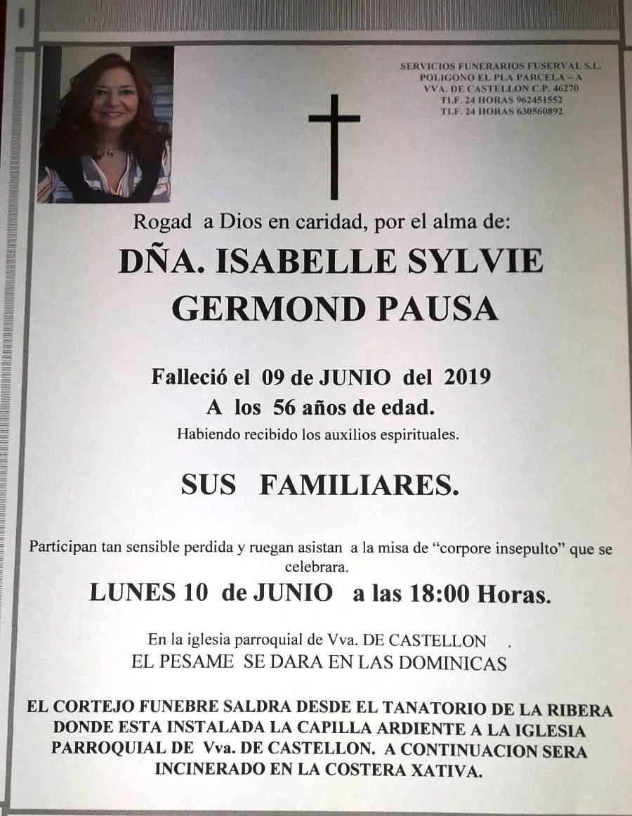 ISABELLE SYLVIE GERMOND PAUSA