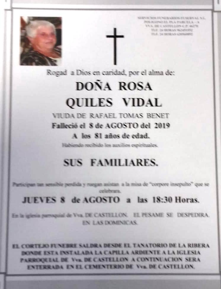 ROSA QUILES VIDAL