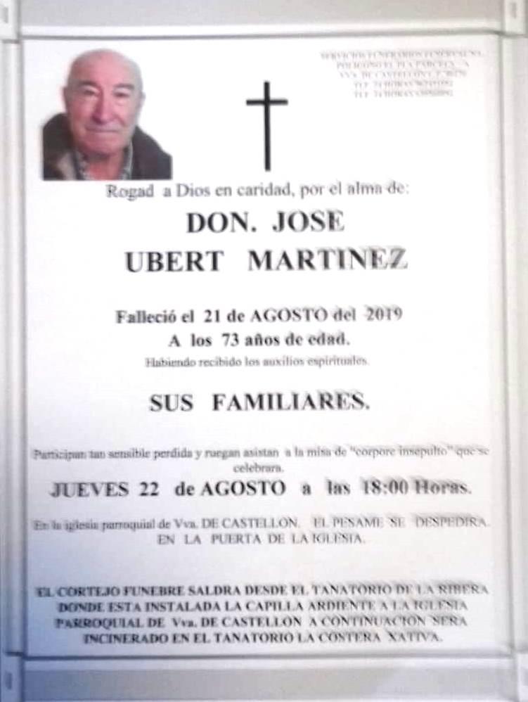 JOSÉ UBERT MARTÍNEZ