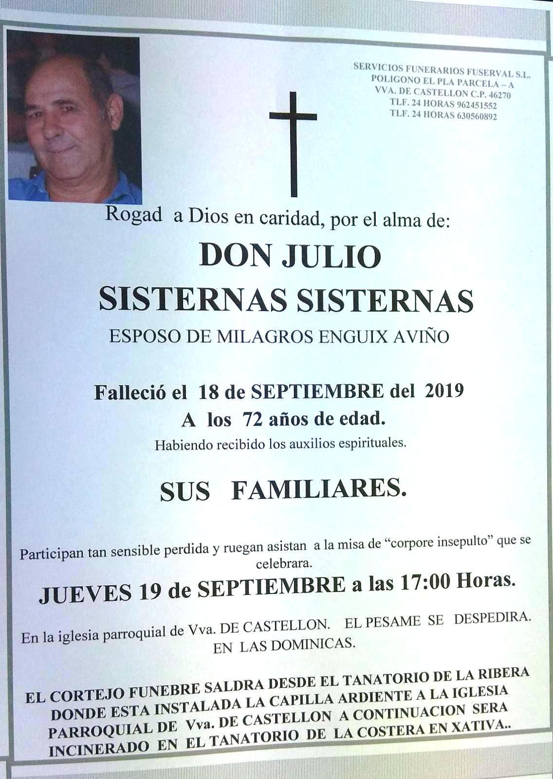 JULIO SISTERNAS SISTERNAS