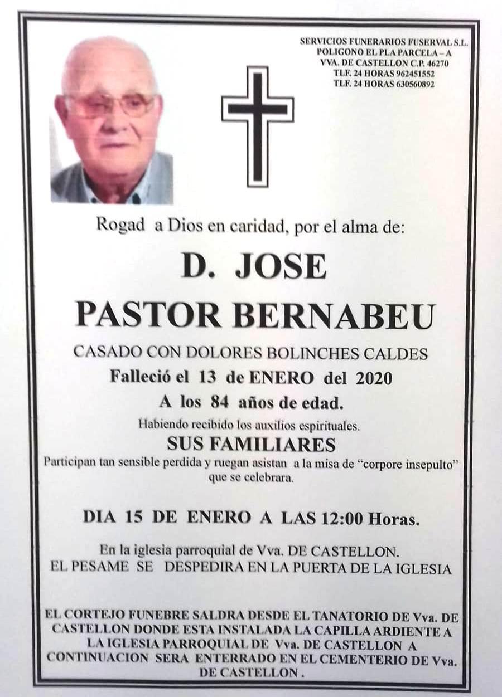 JOSE PASTOR BERNABEU