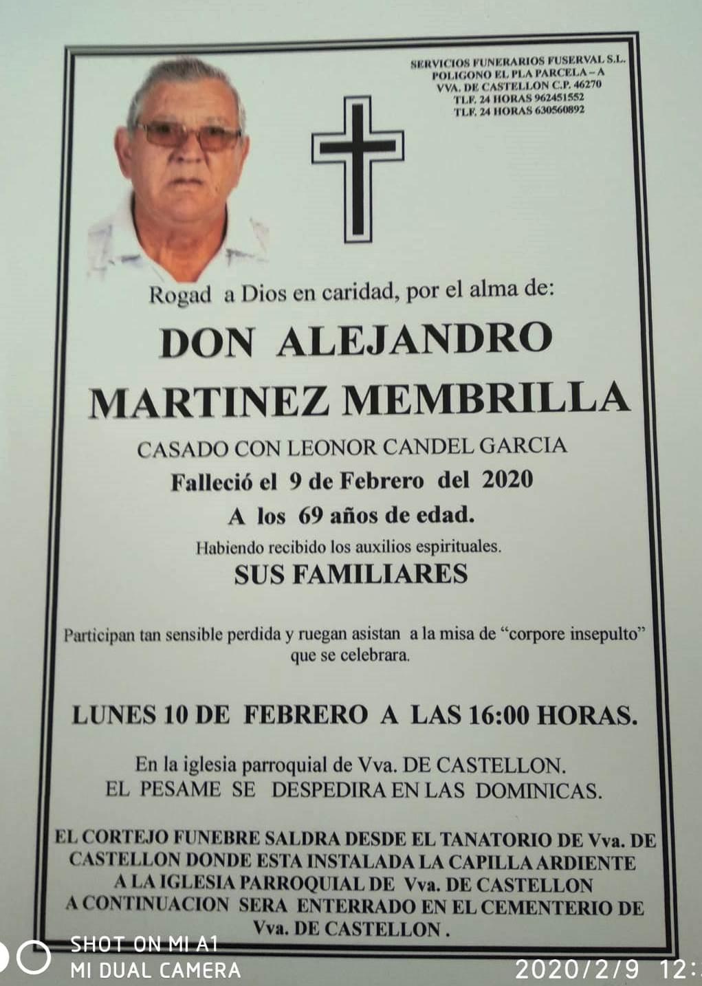 ALEJANDRO MARTINEZ MEMBRILLA