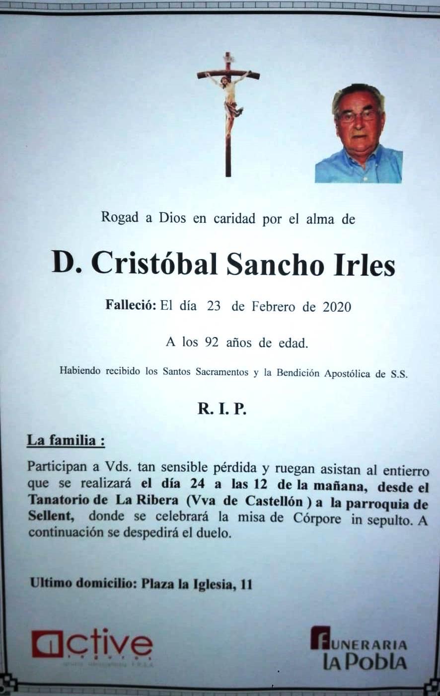 CRISTÓBAL SANCHO IRLES