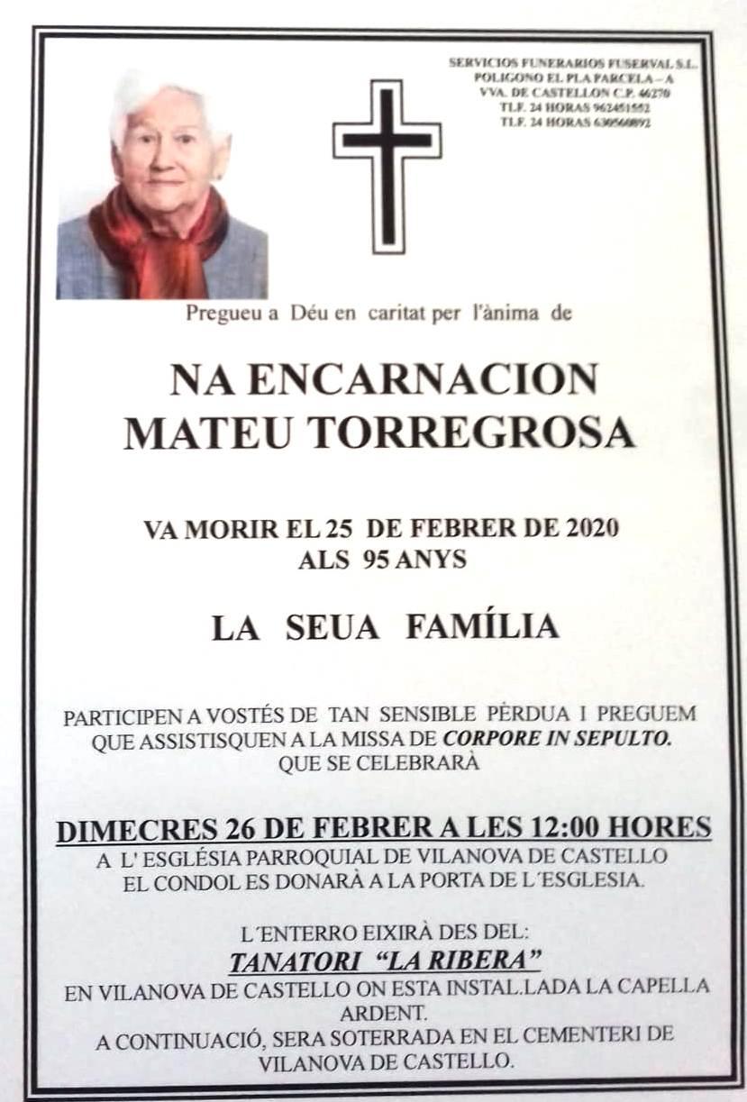 ENCARNACIÓN MATEU TORREGOSA