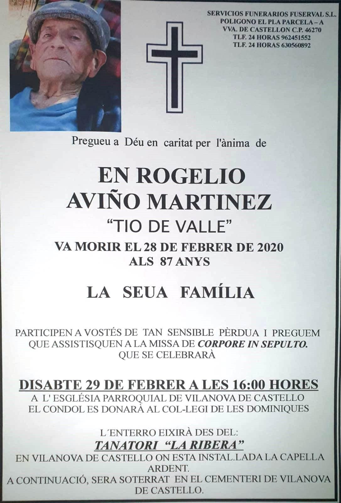ROGELIO AVIÑO MARTINEZ