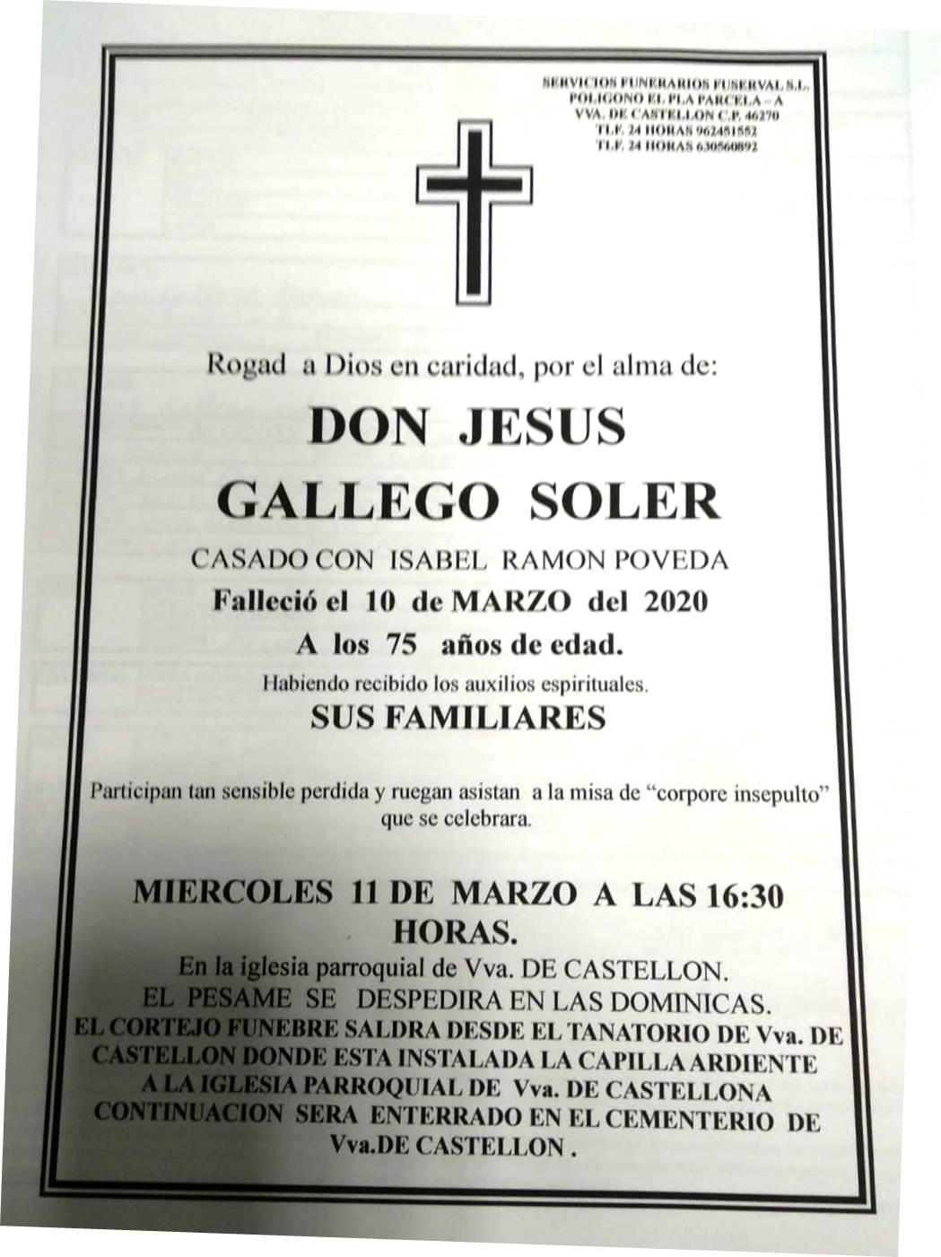 JESUS GALLEGO SOLER